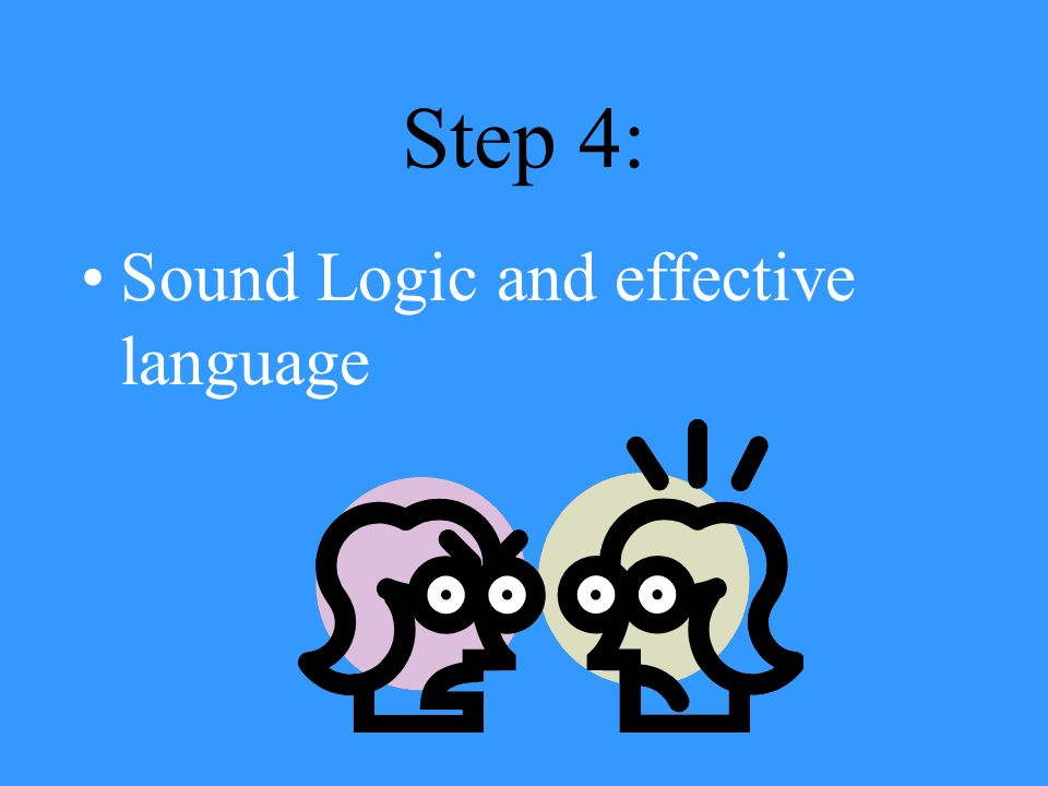 Step 3: Counterarguments, or statements that anticipate and refute opposing views