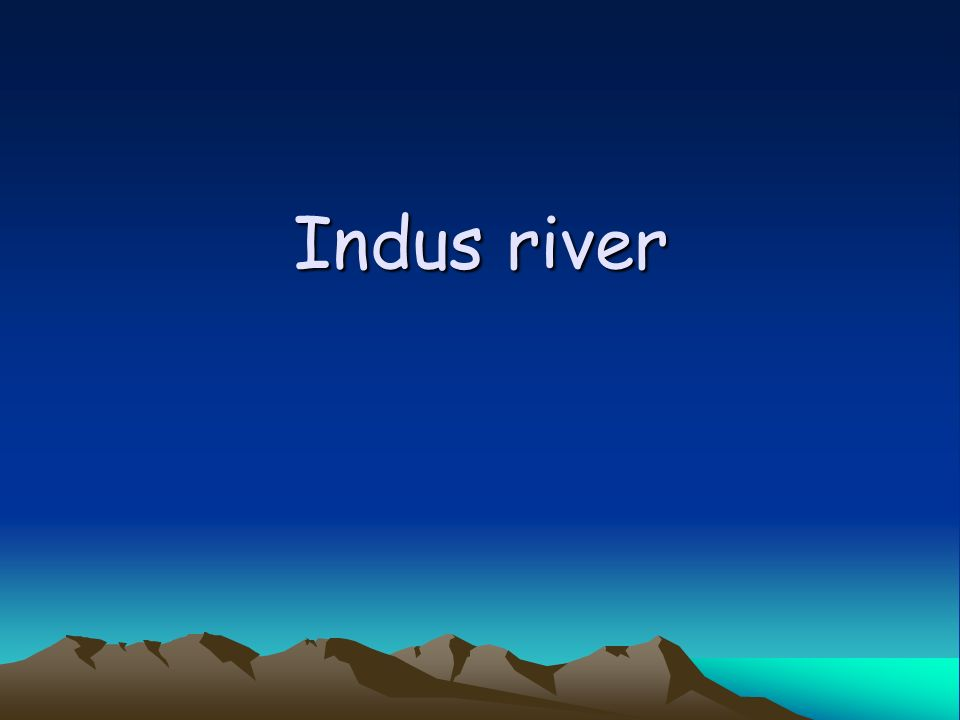 Todays Objectives Students will be able to –discuss the development of civilization in the Indus River Valley.