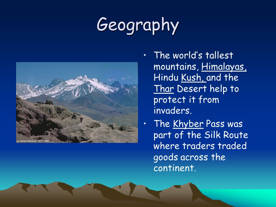 Geography The seasonal winds called the monsoons dominate Indias climate.