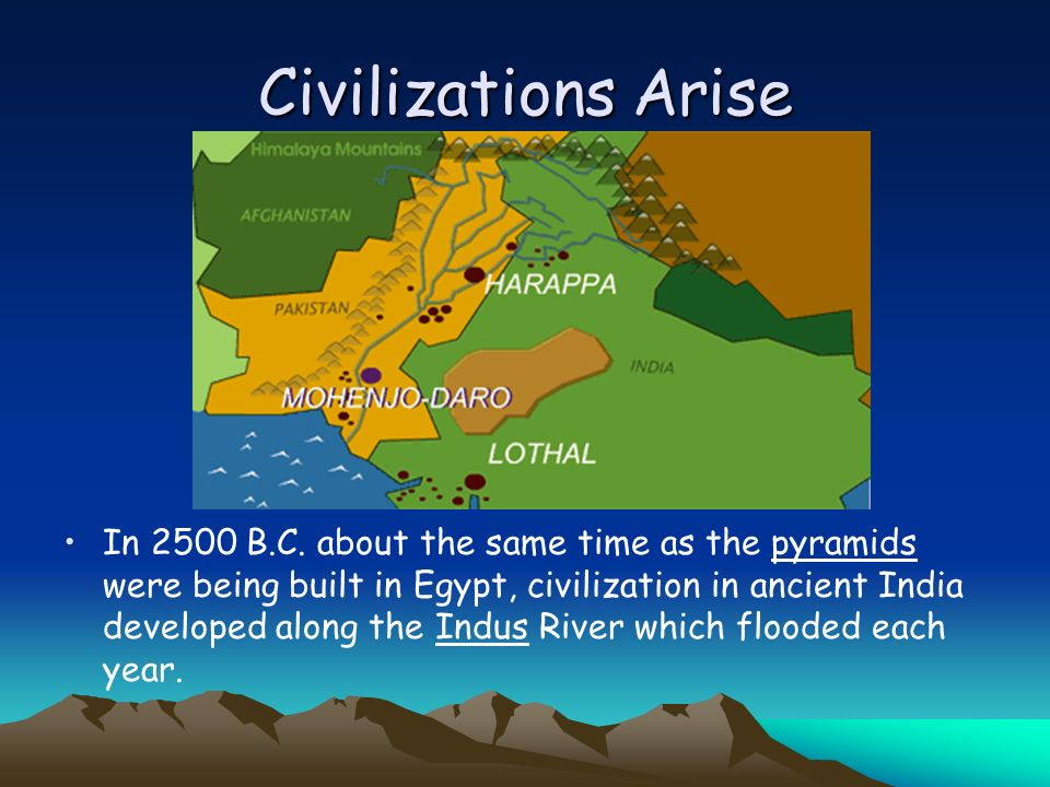 The Cities of the Indus Valley The cities of Mohenjo- Daro and Harappa developed.