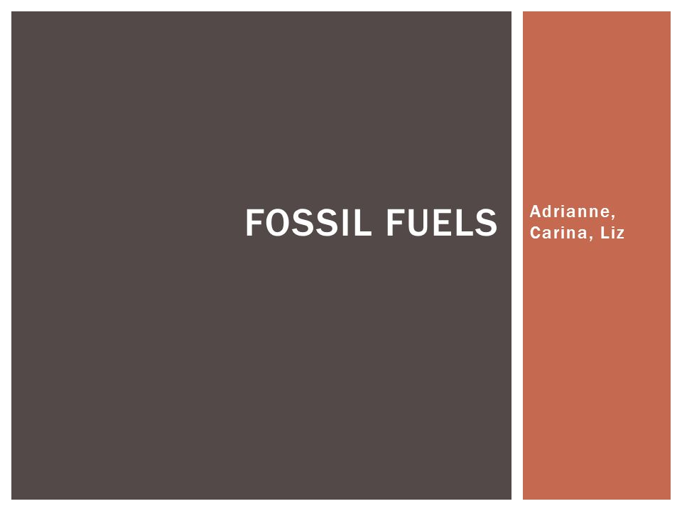 Oil Coal Natural gases WHAT IS A FOSSIL FUEL?