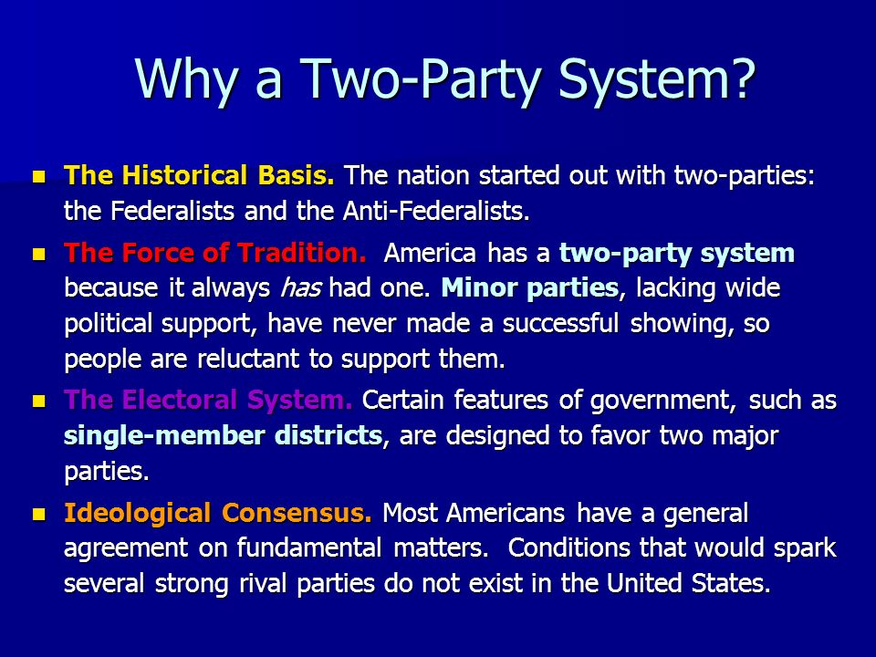 Major Parties There are two major parties in the U.S. Can you name them? There are two major parties in the U.S. Can you name them?