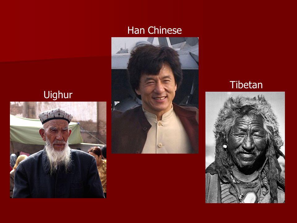 Uighur Han Chinese Tibetan