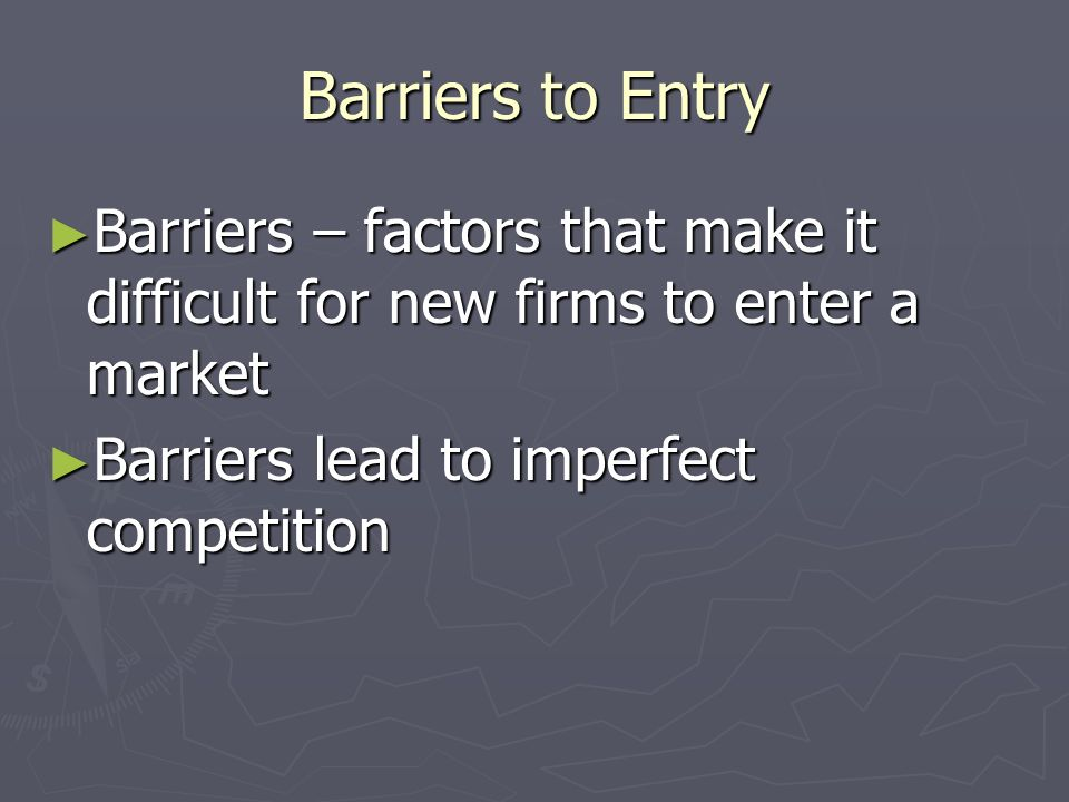Perfect Competition Four Conditions for Perfect Market: Four Conditions for Perfect Market: Buyers and sellers are well informed about products Buyers