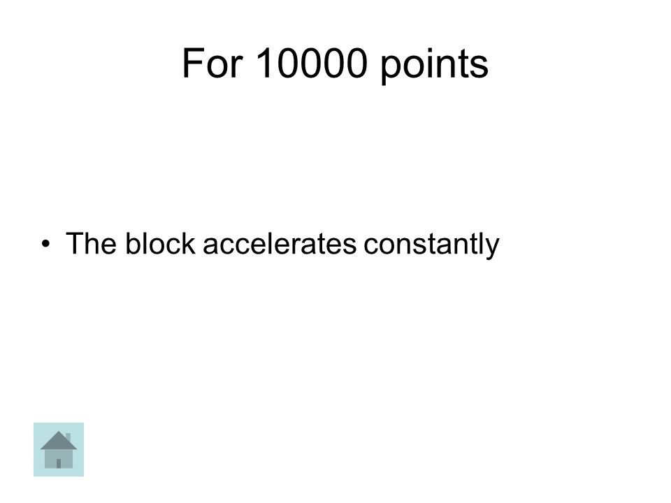 For 10000 points The block accelerates constantly