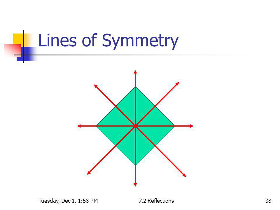 Tuesday, Dec 1, 1:58 PM7.2 Reflections38 Lines of Symmetry