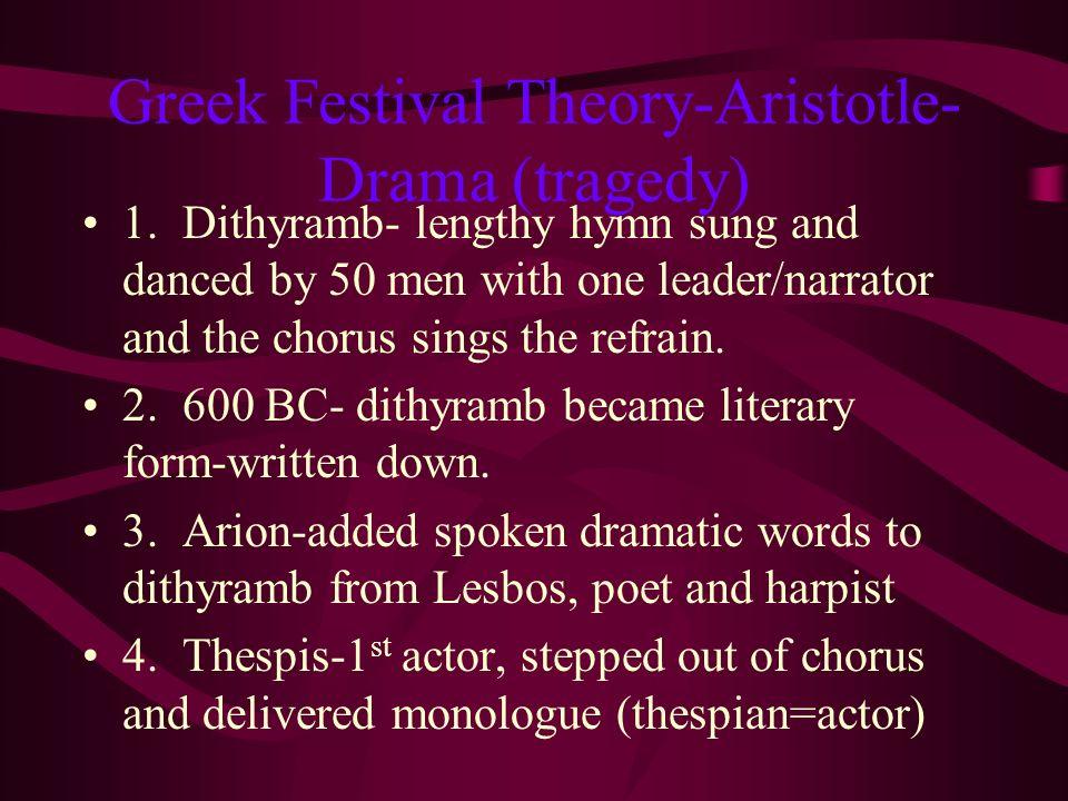 3. Greek Religious Festivals honoring Dionysis-God of harvest wine, fertility