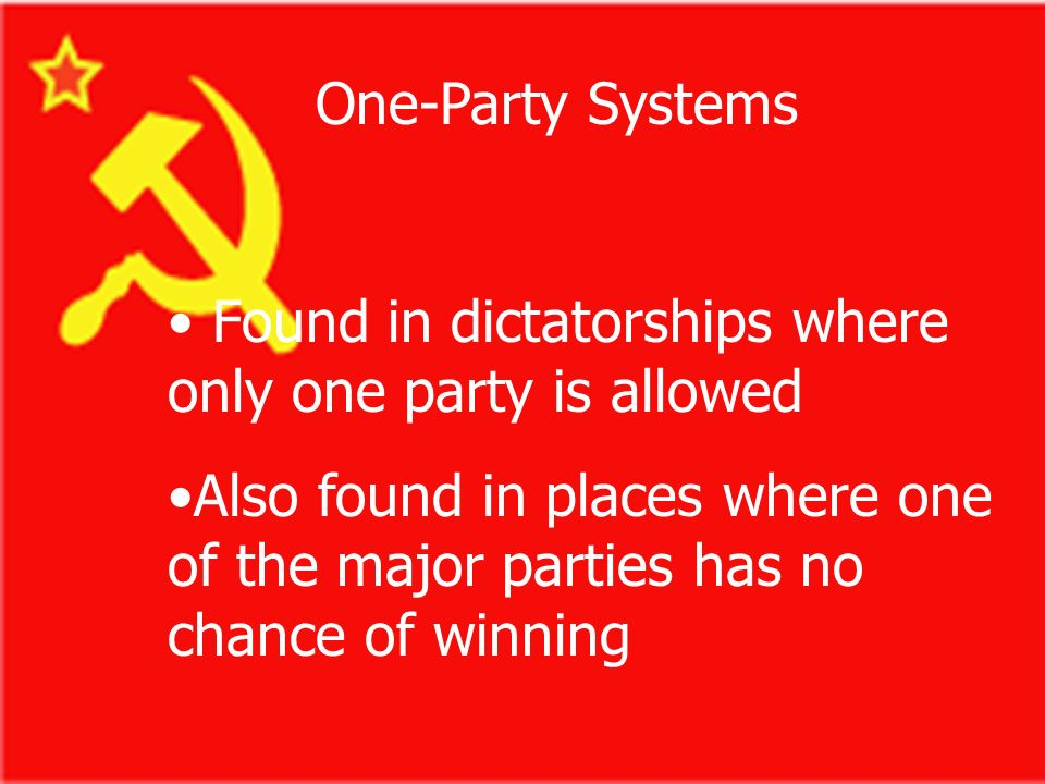 Multiparty Systems Several major parties, many lesser parties all compete for and win public office Several major parties, many lesser parties all com