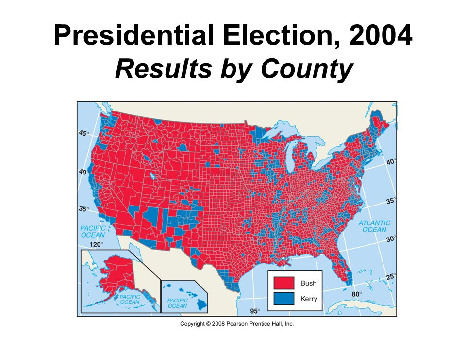Presidential Election, 2004 Results by County