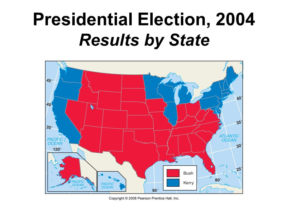 Presidential Election, 2004 Results by State