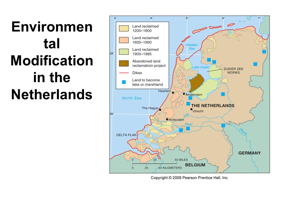 Environmen tal Modification in the Netherlands Fig. 1-15: Polders and dikes have been used for extensive environmental modification in the Netherlands