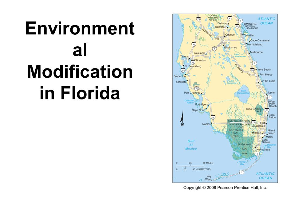 Environment al Modification in Florida Fig. 1-16: Straightening the Kissimmee River has had many unintended side effects.