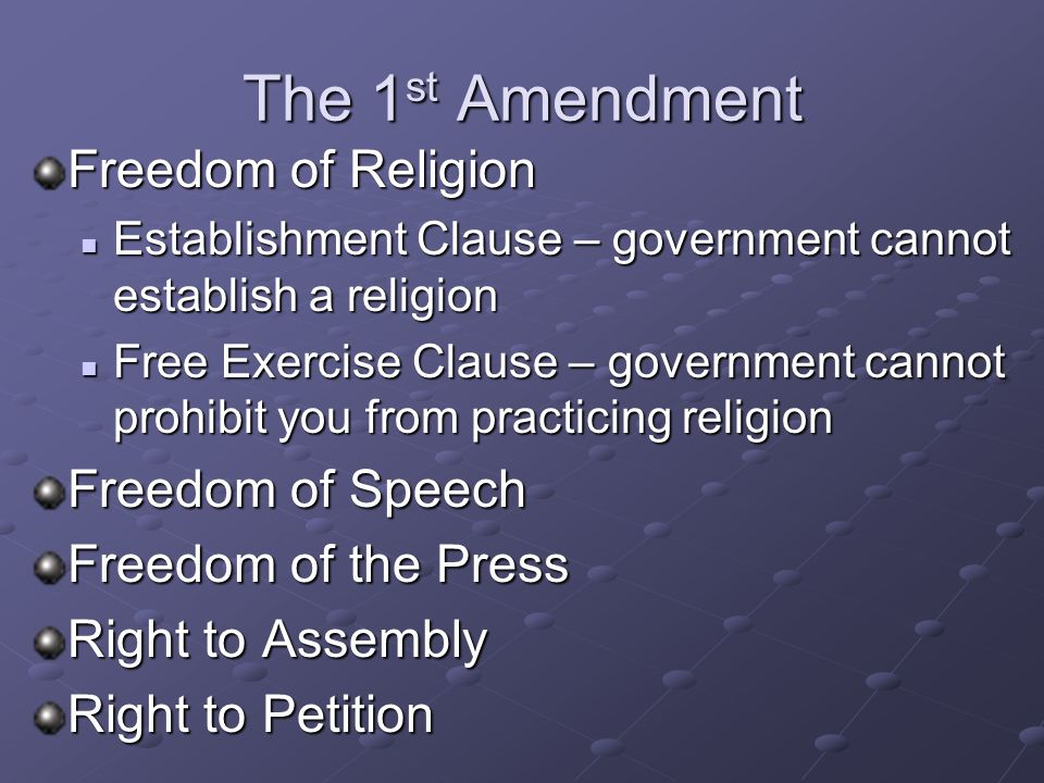 The Bill of Rights These are awesome! And you get to memorize them!