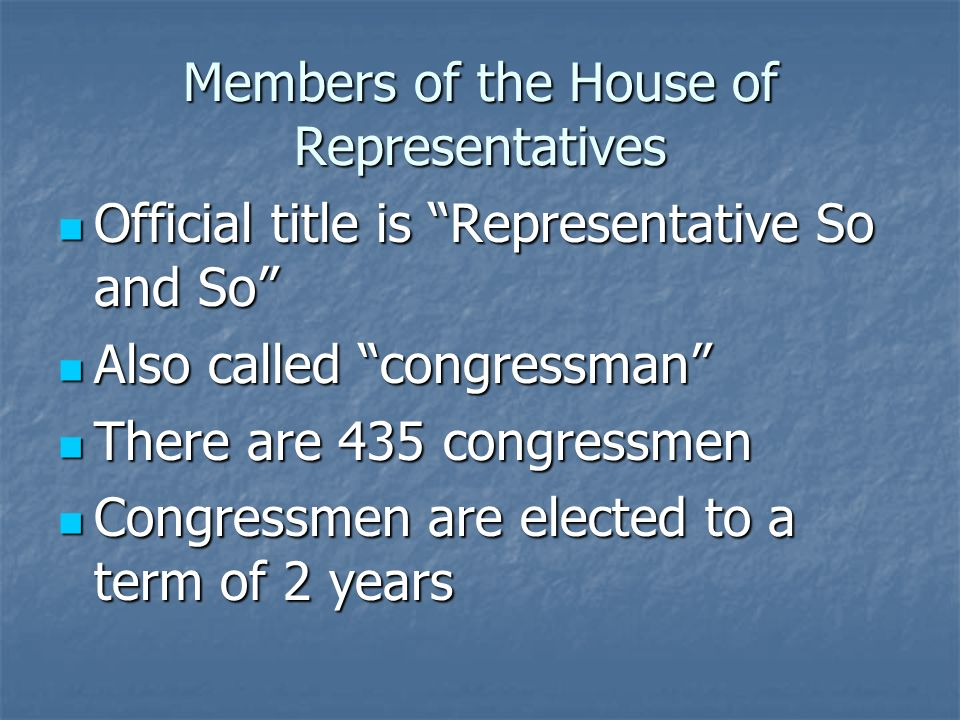 Bicameral Congress Our Congress is bicameral, meaning it has two houses Our Congress is bicameral, meaning it has two houses The larger house, which is supposedly the common mans house, is the House of Representatives The larger house, which is supposedly the common mans house, is the House of Representatives The smaller house, which is for the elite of America is the Senate The smaller house, which is for the elite of America is the Senate
