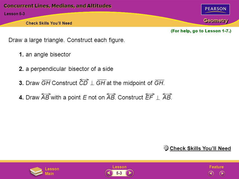 FeatureLesson Geometry Lesson Main 1–2.3. 4.