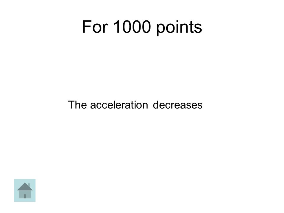 For 1000 points The acceleration decreases