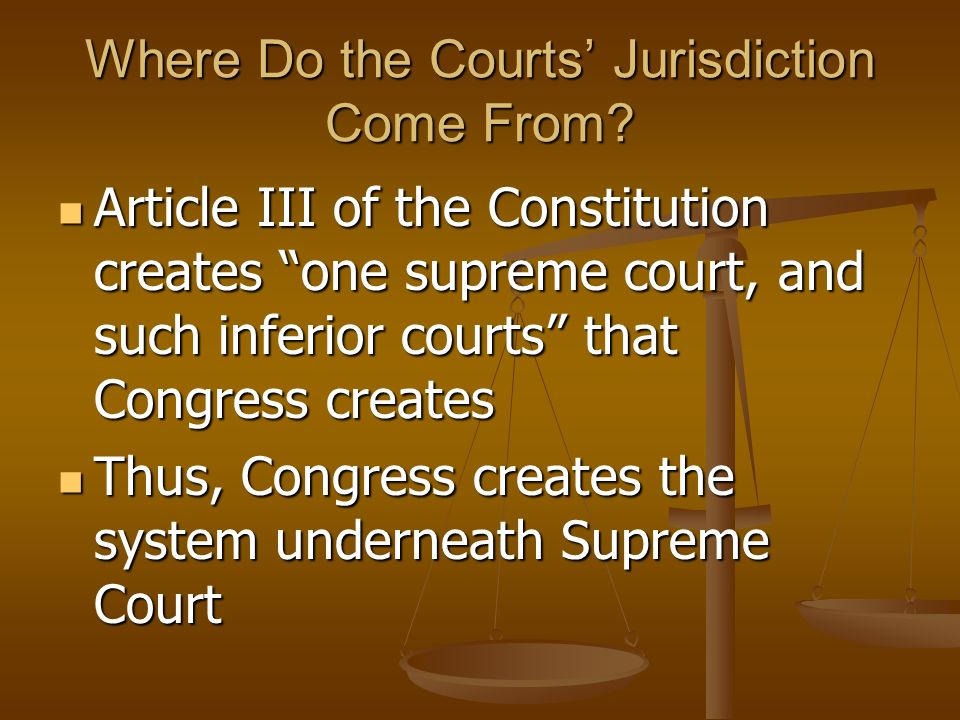 The Role of the Judicial Branch To interpret and define law To interpret and define law This involves hearing individual cases and deciding how the la