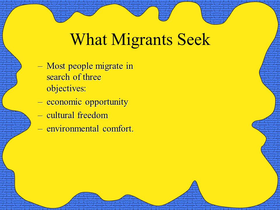 Mexican Immigration –The origin of Mexican immigrants to the United States matches the expectations of the migration transition and distance-decay theories.