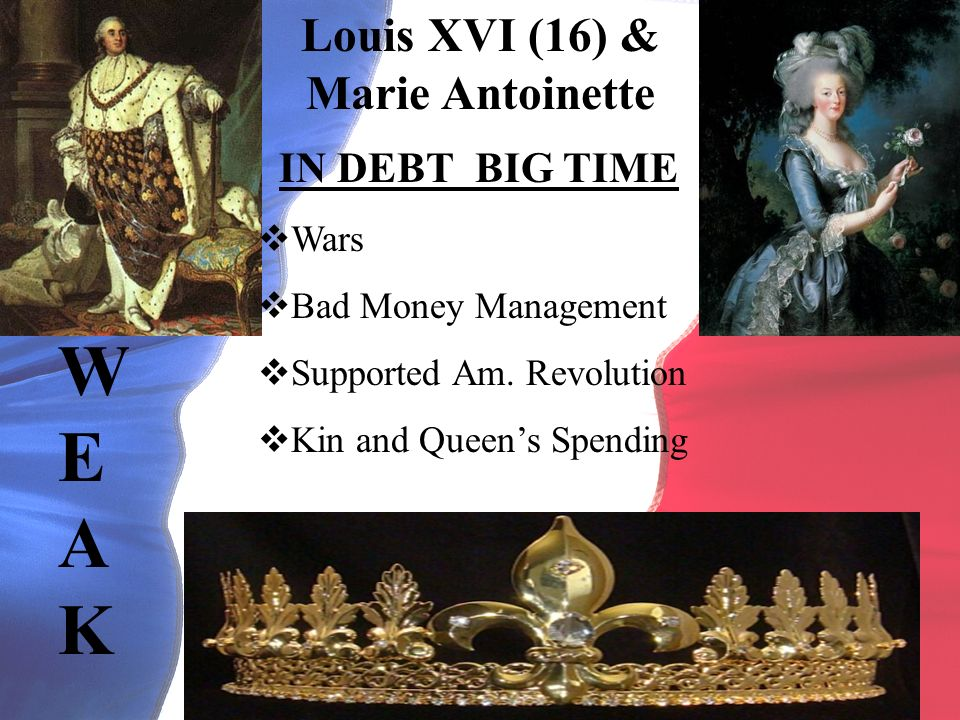 Louis XVI (16) & Marie Antoinette IN DEBT BIG TIME Wars Bad Money Management Supported Am.