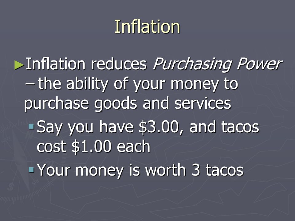 Inflation Inflation is a general increase in prices Inflation is a general increase in prices Movie Ticket in 1950 - $0.25 Movie Ticket in 1950 - $0.2