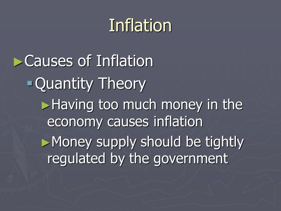 Inflation Types of Inflation Types of Inflation Creeping Inflation Creeping Inflation 1-3% per year, causes no problems 1-3% per year, causes no probl