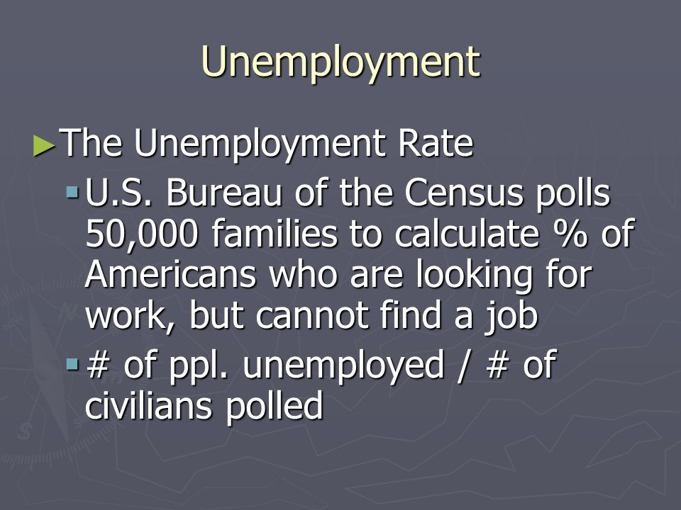 Unemployment 4 Types of Unemployment 4 Types of Unemployment Cyclical Unemployment Cyclical Unemployment Contraction and recession cause loss of jobs