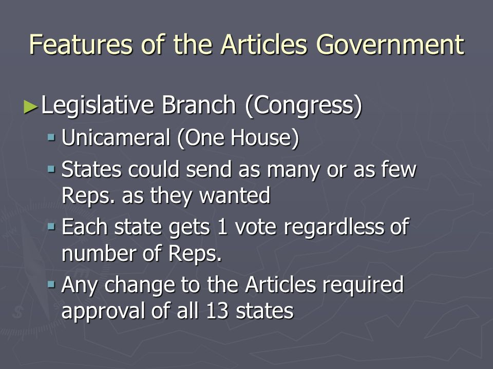 Problems with the Articles As a result: As a result: States never sent the government any money States never sent the government any money States boycotted each others goods and currency States boycotted each others goods and currency States made trade agreements with foreign countries States made trade agreements with foreign countries