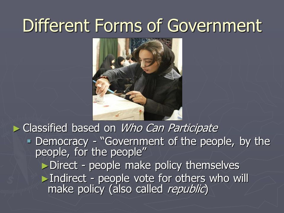 Purpose of Government Based on the social contract theory, the purpose of American government is to: Based on the social contract theory, the purpose of American government is to: Form a More Perfect Union Form a More Perfect Union Establish Justice Establish Justice Insure Domestic Tranquility Insure Domestic Tranquility Provide for the Common Defense Provide for the Common Defense Promote the General Welfare Promote the General Welfare Secure the Blessings of Liberty Secure the Blessings of Liberty *In case youre curious, this is the Preamble to the U.S.