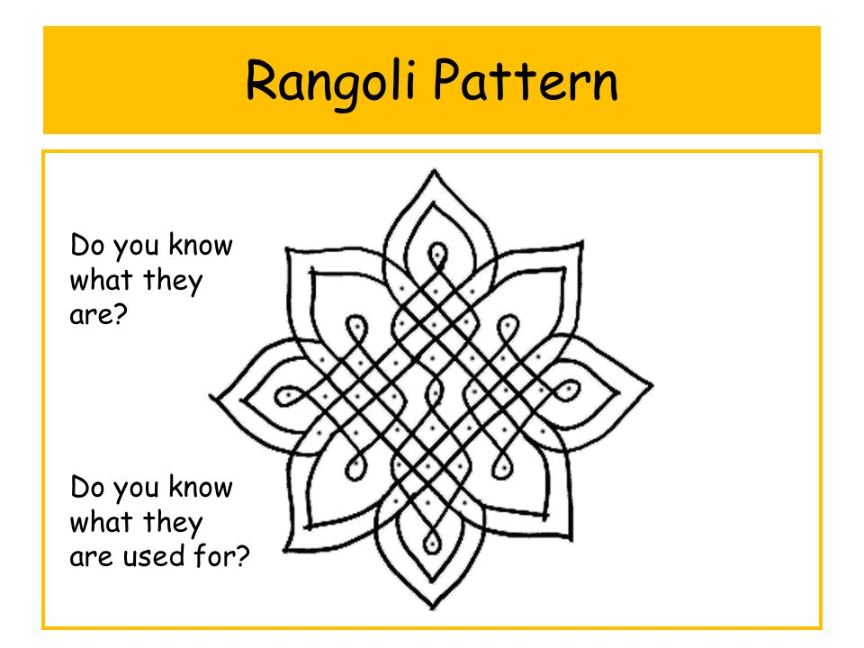 Rangoli Pattern Do you know what they are? Do you know what they are used for?
