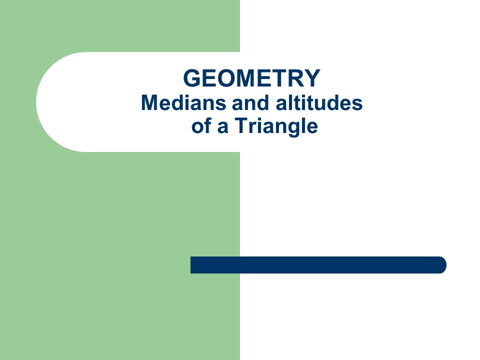 Median of a triangle A median of a triangle is a segment from a vertex to the midpoint of the opposite side.