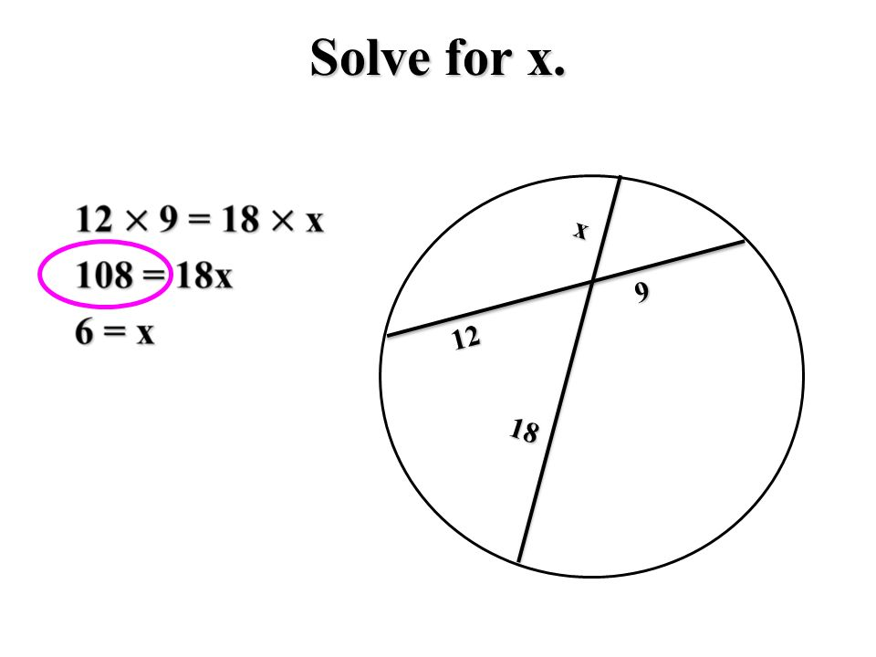 Solve for x x18