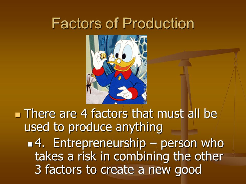 Factors of Production 3 Kinds of Capital Financial Capital – money needed to begin production of a good or service