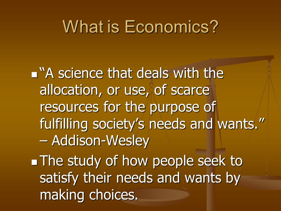 Unit 1: Foundations of Economics
