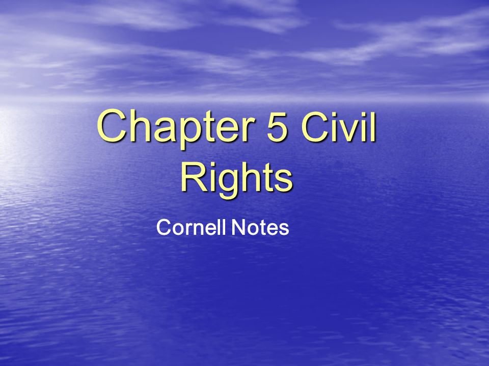 I.Introduction Topic / Main Ideas Details A. Civil rights B.