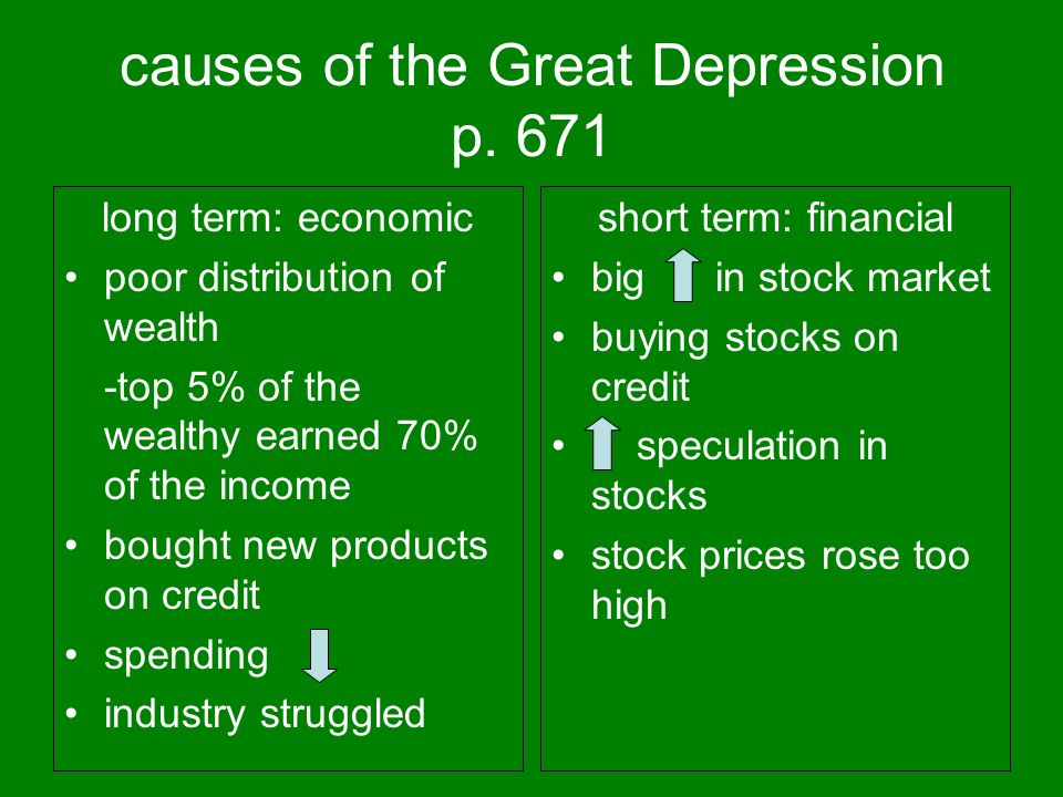 causes of the Great Depression p.