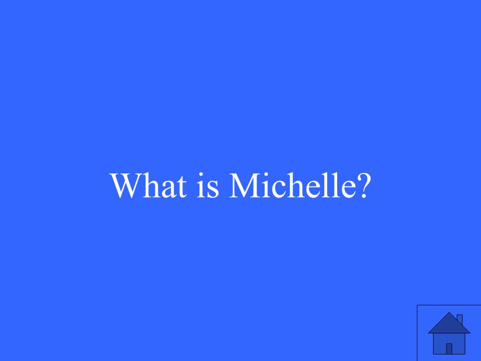 This is President Barack Obamas wifes name