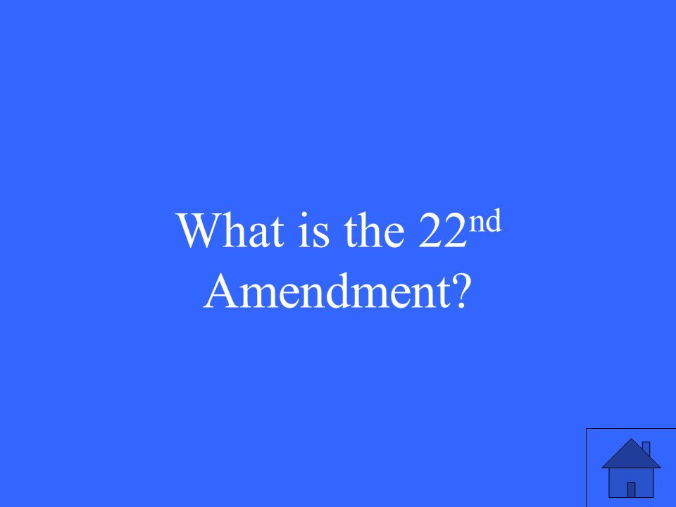 This is the Amendment that limited presidents to 2 terms
