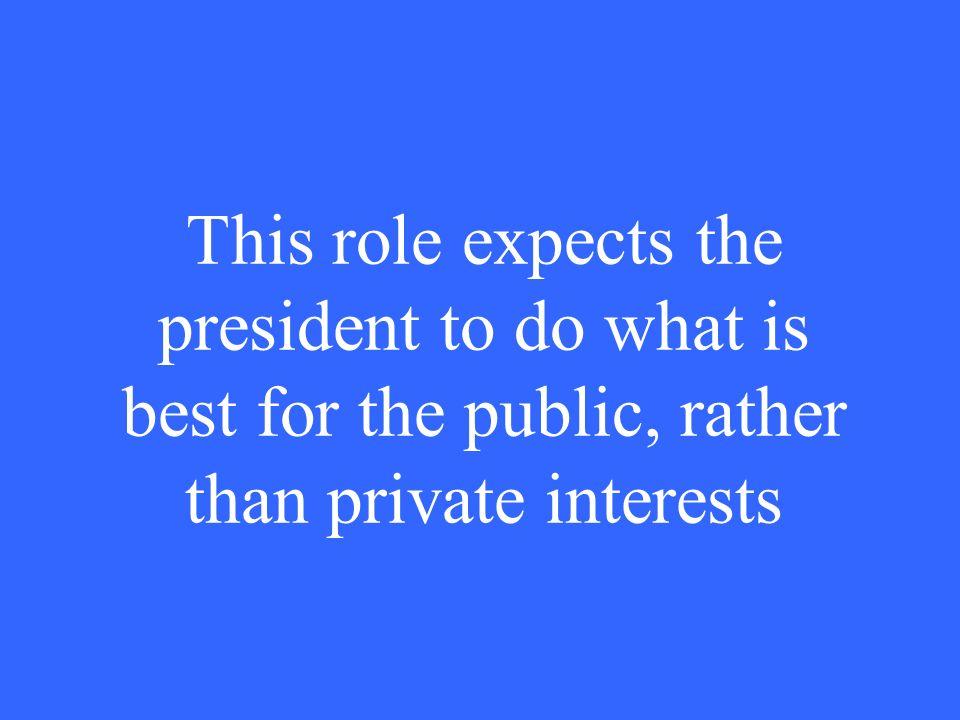 What is chief legislator