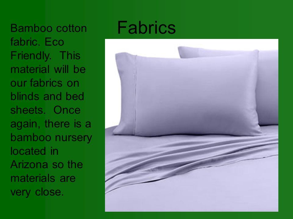Fabrics Bamboo cotton fabric. Eco Friendly.
