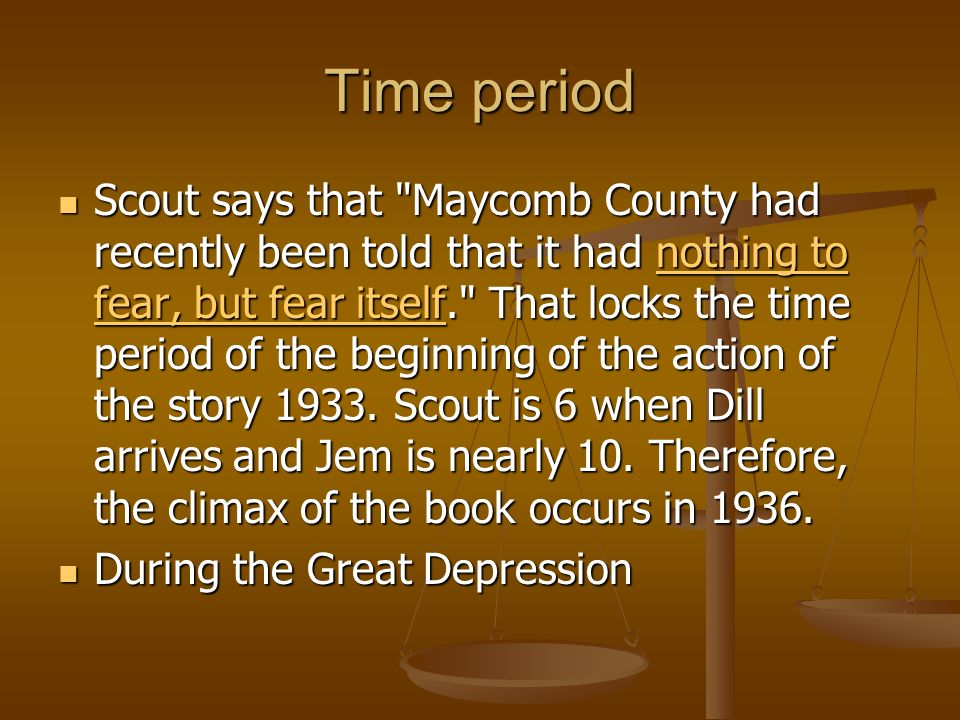 Time period Scout says that