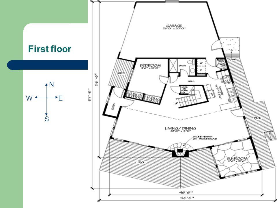 First floor N S EW