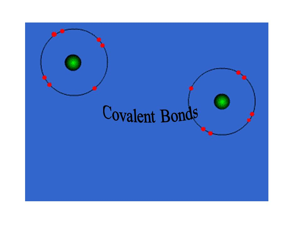 Covalent Bond Formed by sharing electron pairs When NON-METAL joins with another NON-METAL.