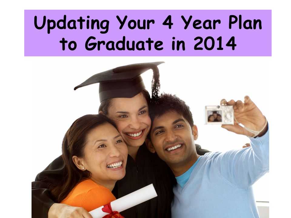 Updating Your 4 Year Plan to Graduate in 2014