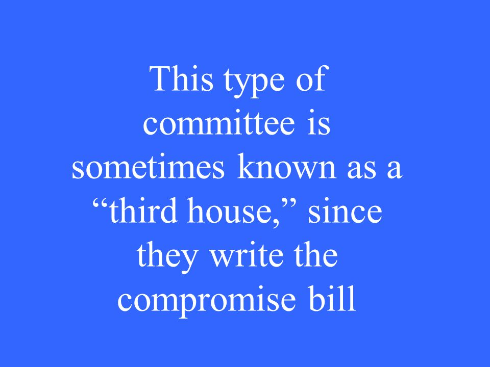 What is a standing committee?