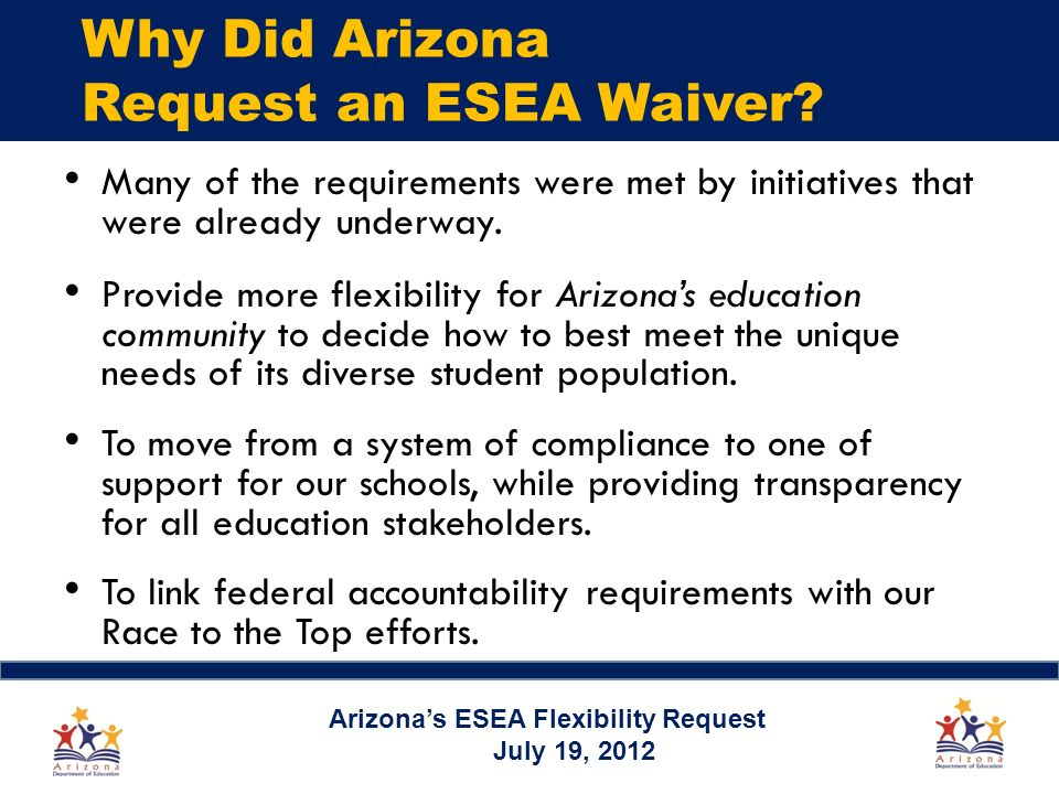 Why Did Arizona Request an ESEA Waiver.