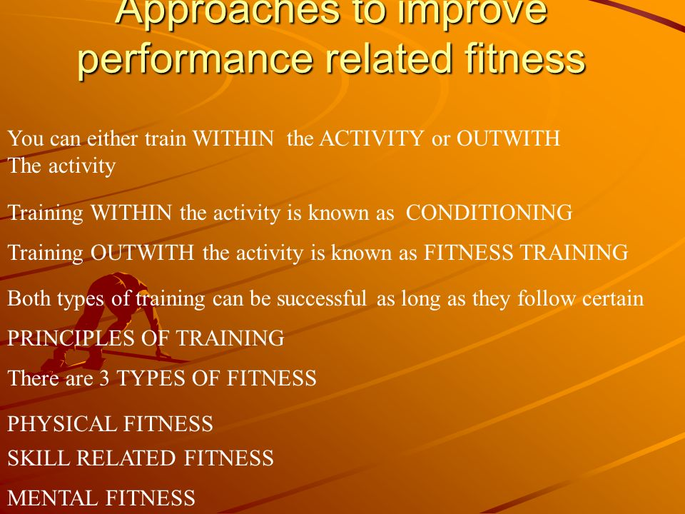 Aspects of SKILL RELATED FITNESS All aspects of SKILL RELATED FITNESS have an important Role to play in preparing the body for successful performance In an activity.