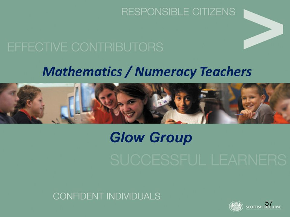 Mathematics / Numeracy Teachers 57 Glow Group