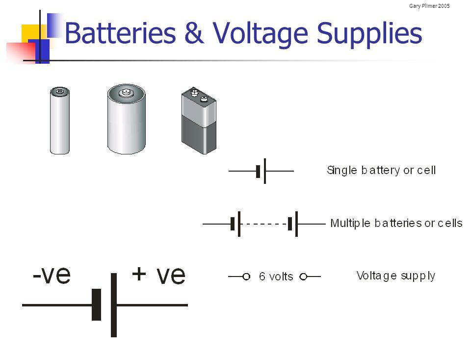 Gary Plimer 2005 Batteries & Voltage Supplies