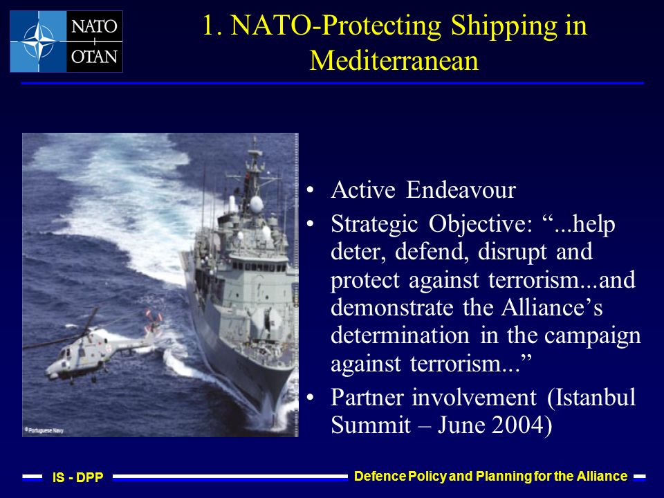 IS - DPP Defence Policy and Planning for the Alliance 1.