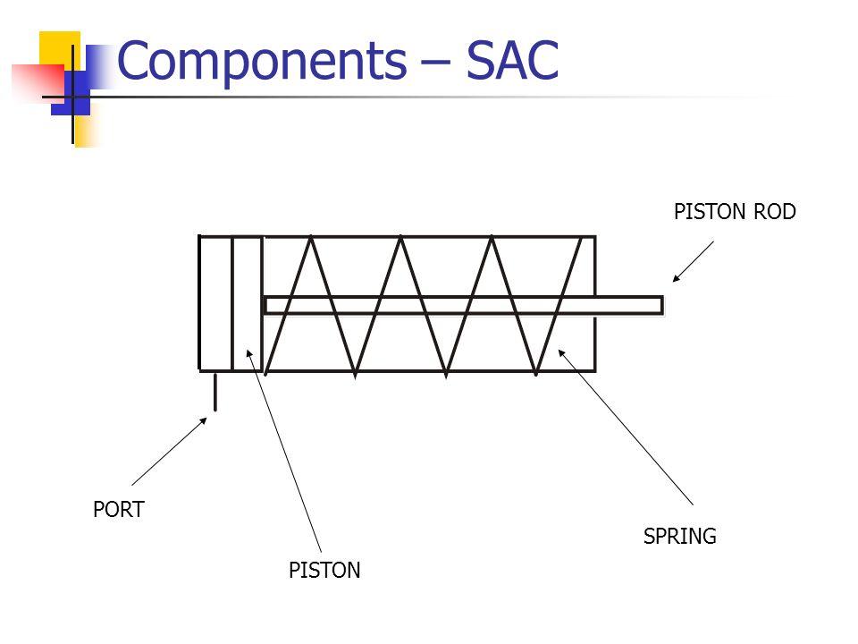 Components – SAC PORT PISTON PISTON ROD SPRING